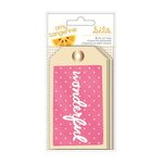 American Crafts - Amy Tangerine Collection - Rise and Shine - Tags With Foil Accents