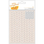 American Crafts - Rise and Shine Collection - 4 x 6 Embossing Folder - Ava