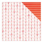 American Crafts - Fine and Dandy Collection - 12 x 12 Double Sided Paper - Just Peachy