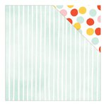American Crafts - Dear Lizzy Collection - Fine and Dandy - 12 x 12 Double Sided Paper - Stripey Straws