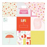 American Crafts - Dear Lizzy Collection - Fine and Dandy - 12 x 12 Double Sided Paper - Shenanigans