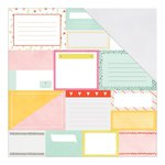 American Crafts - Dear Lizzy Collection - Fine and Dandy - 12 x 12 Double Sided Paper - Pretty Packages