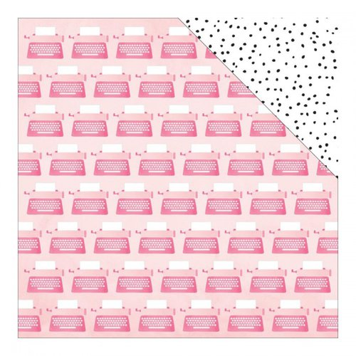 American Crafts - Dear Lizzy Collection - Fine and Dandy - 12 x 12 Double Sided Paper - Cheerful Chatter