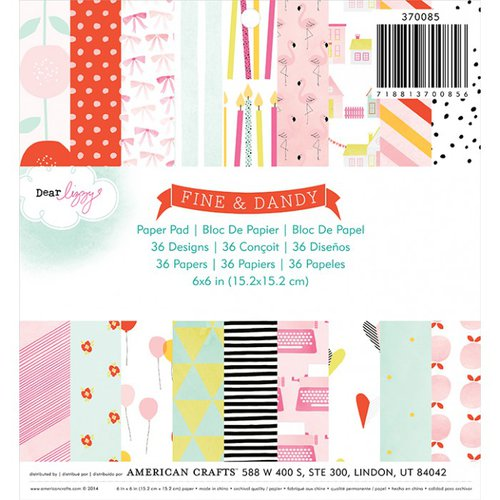 American Crafts - Fine and Dandy Collection - 6 x 6 Paper Pad