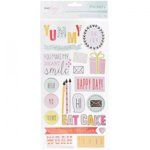 American Crafts - Dear Lizzy Collection - Fine and Dandy - Thickers - Chipboard - Phrase and Accents - Gold Foil