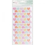 American Crafts - Fine and Dandy Collection - Thickers - Chipboard - Colorful Confetti - Hearts