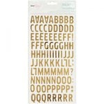 American Crafts - Fine and Dandy Collection - Thickers - Foil - Woodland - Gold