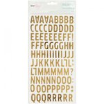 American Crafts - Dear Lizzy Collection - Fine and Dandy - Thickers - Foil - Woodland - Gold