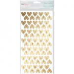 American Crafts - Fine and Dandy Collection - Thickers - Foil - Sparkling - Gold Hearts