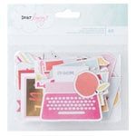 American Crafts - Dear Lizzy Collection - Fine and Dandy - Ephemera with Foil Accents