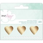 American Crafts - Fine and Dandy Collection - Roll Stickers - Gold Foil Heart Decals