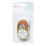 American Crafts - Dear Lizzy Collection - Fine and Dandy - Gold Rimmed Tags