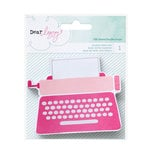 American Crafts - Dear Lizzy Collection - Fine and Dandy - Shaped Paper Pad - Typewriter