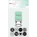 American Crafts - Fine and Dandy Collection - Rubber Stamps - Interchangeable