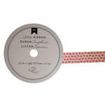 American Crafts - Glitter Ribbon - Red Hearts - 0.625 Inch - 3 Yards