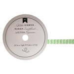 American Crafts - Glitter Ribbon - Green Zig Zag - 0.325 Inch - 3 Yards