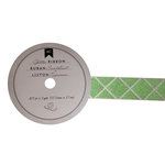 American Crafts - Glitter Ribbon - Green Diamond - 0.825 Inch - 3 Yards