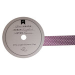 American Crafts - Glitter Ribbon - Purple Polka Dot - 0.825 Inch - 3 Yards