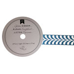 American Crafts - Glitter Ribbon - Teal Vine - 0.825 Inch - 3 Yards