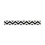 American Crafts - Glitter Ribbon - Black Chevron - 0.325 Inch - 3 Yards