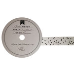 American Crafts - Glitter Ribbon - Black Confetti - 0.625 Inch - 3 Yards