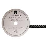 American Crafts - Glitter Ribbon - Black Pinstripe - 0.325 Inch - 3 Yards