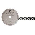 American Crafts - Glitter Ribbon - Black Tribal - 0.625 Inch - 3 Yards