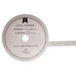 American Crafts - Glitter Ribbon - Silver Chevron - 0.325 Inch - 3 Yards