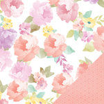Heidi Swapp - Wanderlust Collection - 12 x 12 Double Sided Paper - Market Bouquet