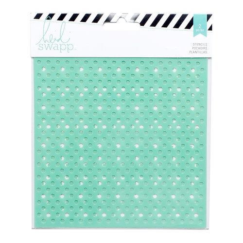 Heidi Swapp - Mixed Media Collection - 6 x 6 Stencils - Dots