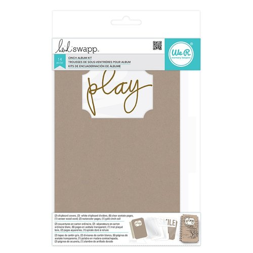 We R Memory Keepers - Mixed Media Collection - The Cinch Kits - Chipboard Ticket Album