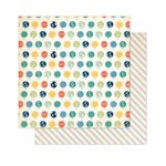 Pink Paislee - Atlas Collection - 12 x 12 Double Sided Paper - Globe Trotter
