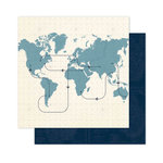 Pink Paislee - Atlas Collection - 12 x 12 Double Sided Paper - Latitude