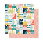Pink Paislee - Atlas Collection - 12 x 12 Double Sided Paper - Ticket To Ride