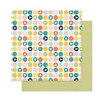 Pink Paislee - Atlas Collection - 12 x 12 Double Sided Paper - Compass