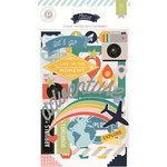 Pink Paislee - Atlas Collection - Chipboard Stickers