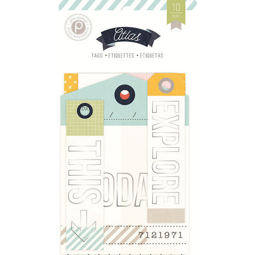 Pink Paislee - Atlas Collection - Travel Tags