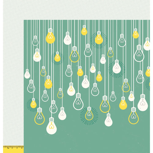 American Crafts - Shimelle Collection - True Stories - 12 x 12 Double Sided Paper - Lemon and Ginger
