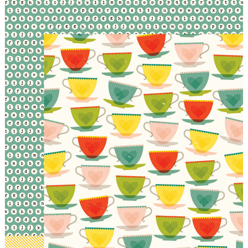 American Crafts - True Stories Collection - 12 x 12 Double Sided Paper - Green Tea