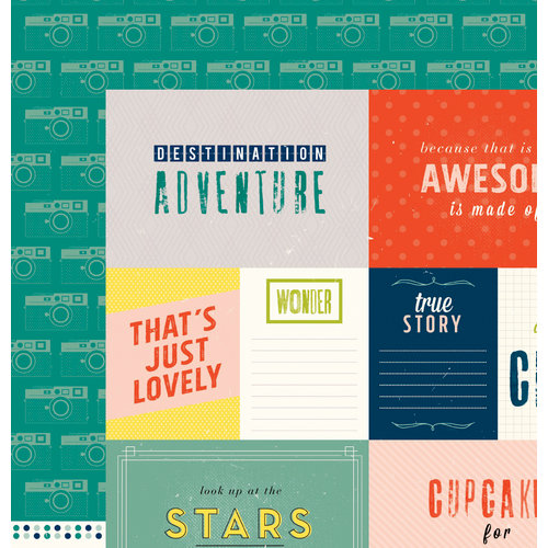 American Crafts - Shimelle Collection - True Stories - 12 x 12 Double Sided Paper - Darjeeling