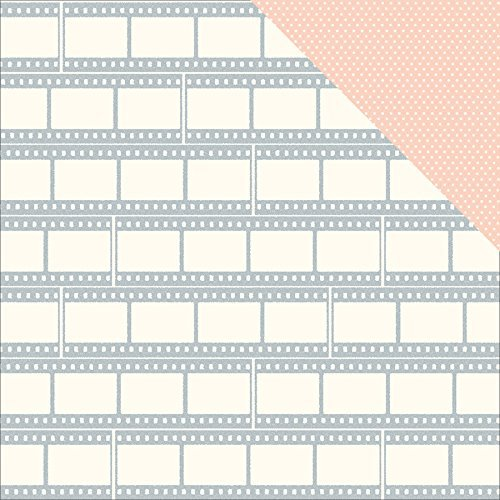 American Crafts - Shimelle Collection - True Stories - 12 x 12 Double Sided Paper with Glitter Accents - Shortbread