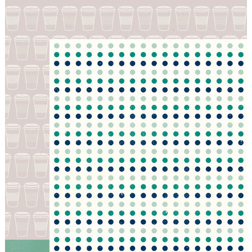 American Crafts - True Stories Collection - 12 x 12 Double Sided Paper - Macchiato