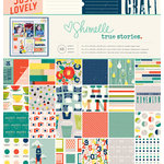 American Crafts - True Stories Collection - 12 x 12 Paper Pad