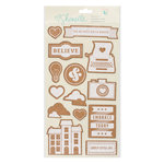 American Crafts - Shimelle Collection - True Stories - Cork Stickers