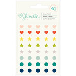 American Crafts - Shimelle Collection - True Stories - Enamel Dots