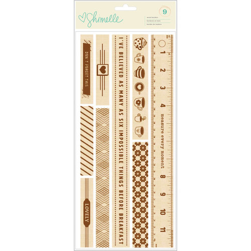 American Crafts - Shimelle Collection - True Stories - Wood Borders