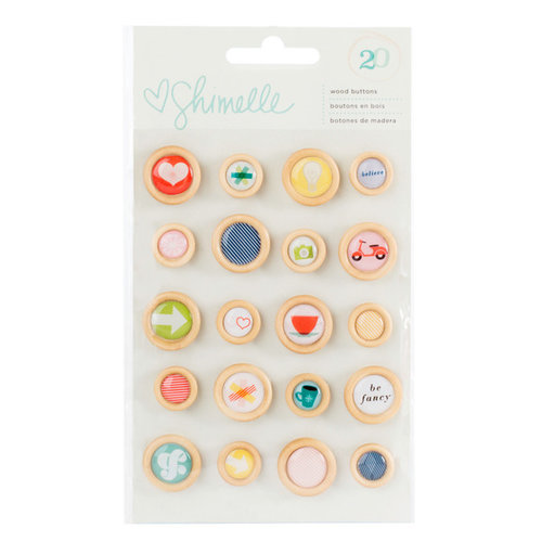 American Crafts - True Stories Collection - Wood Buttons