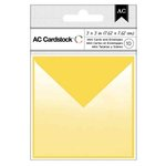 American Crafts - Mini Cards and Envelopes - 3 x 3 - Yellow