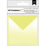 American Crafts - Mini Cards and Envelopes - 3 x 3 - Lime