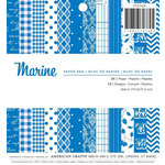 American Crafts - Christmas - 6 x 6 Paper Pad - Marine
